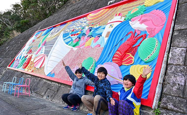 完成記念の子供達の写真